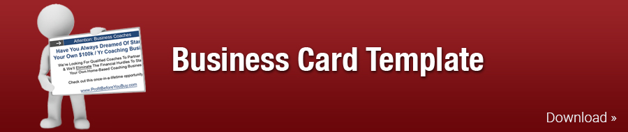 Business Card Template Small Business Owners